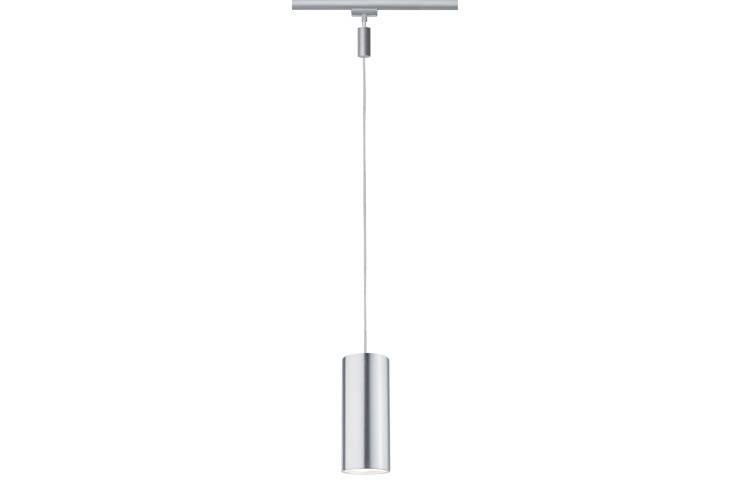Paulmann URail LED Pendel Barrel 6W 9VA 350mA Chrom matt/Alu eloxiert Metall