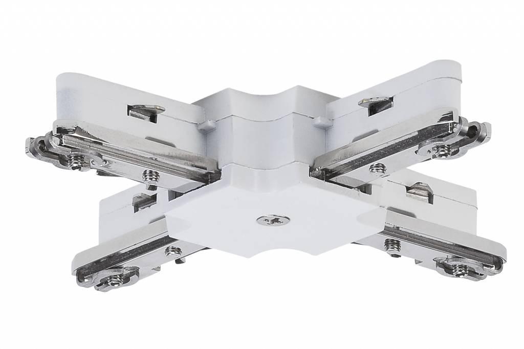 Paulmann URail System Light&Easy X-Verbinder max.1000W Weiß 230V Metall/Kunststoff