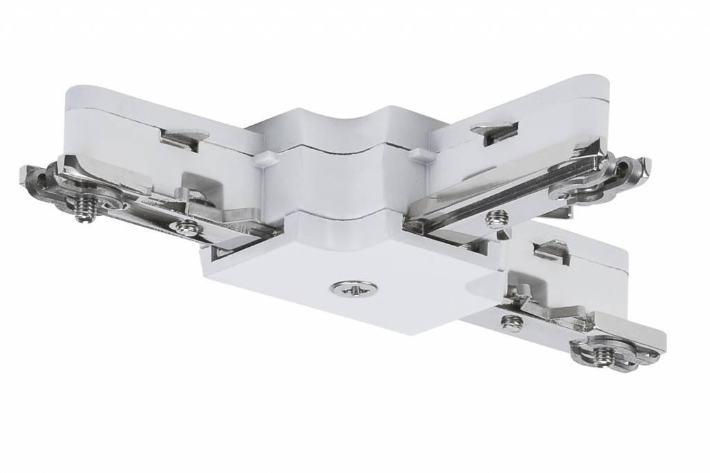 Paulmann URail System Light&Easy T-Verbinder 125mm max.1000W Weiß 230V Metall/Kunstoff