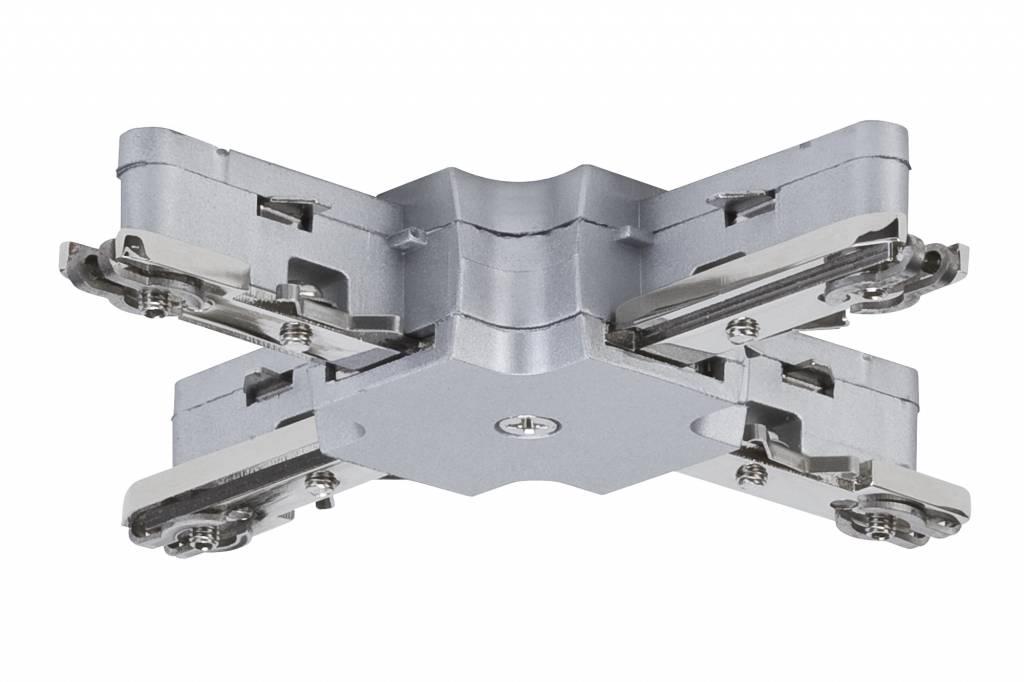 Paulmann URail System Light&Easy X-Verbinder 125mm max. 1000W Chrom matt 230V Metall