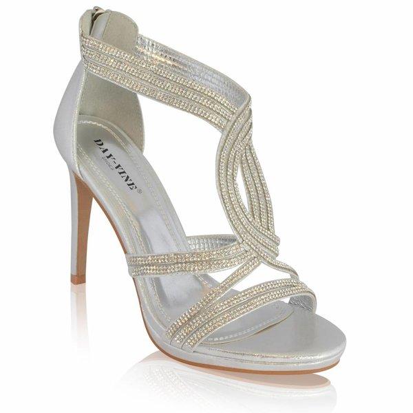 Sandalette met strass