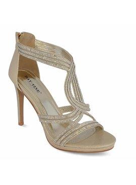 Sandalette met strass - Goud