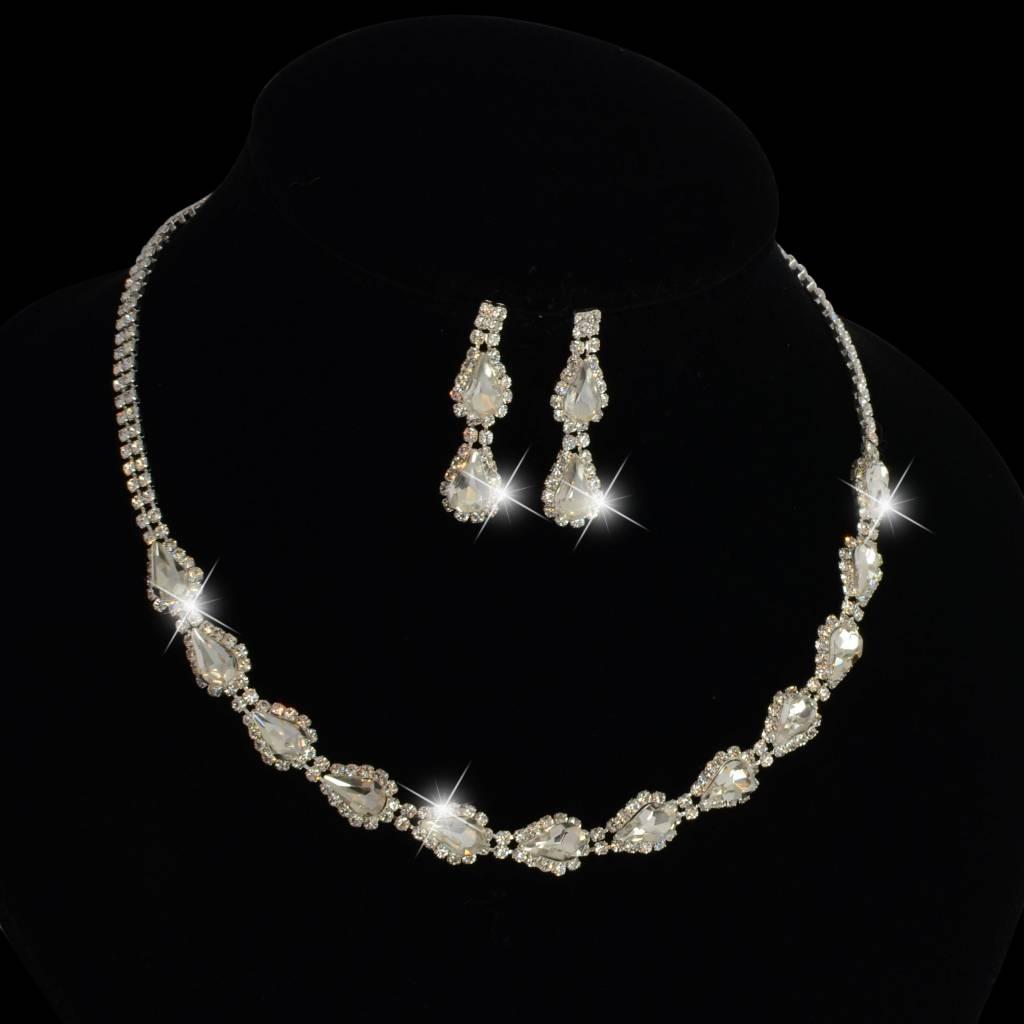Verwonderlijk luxe kristal bruids sieraden set - glitzglamour.nl US-46