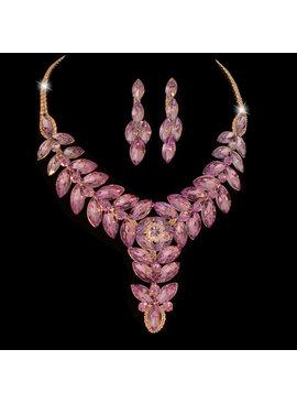 Fashion Jewelry Bruid-Sieraden set Violet