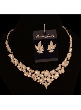jewel for you Strass collier -  Met verschillende kristallen - Zilver