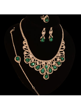 jewel for you Gala - Bruidssieraden set - Nova - Groen