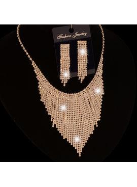 jewel for you Gala/Bruids collier  - Shania - Zilver