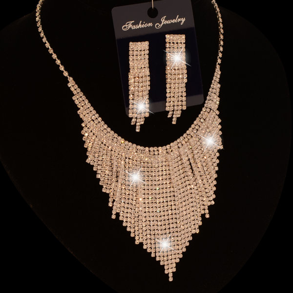 Gala/Bruids collier  - Shania - Zilver