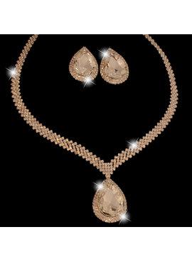 bruidssieraden set Stella - met grote kristallen