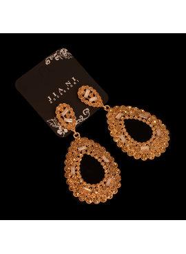 Strass oorbellen Hazel -  Met verschillende kristallen - Brons
