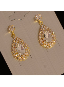 jewel for you //Bruids oorbel Chico - Goud - strass