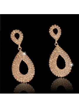 Fashion Jewelry Bruids oorbel Cellina - Zilver - met fijne strass