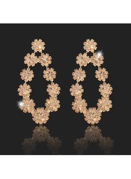 Fashion Jewelry //Bruids oorbel Florida - Zilver - met bloem motief