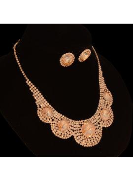 Strass sieraden set - Hazels - met grote  sierkristallen