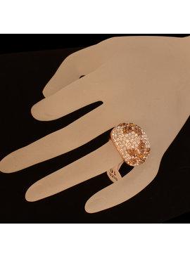 Ring - Goud / Hazel  met fijne strass kristallen