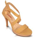 Starling Goudkleurige sandalen - Lilly  met kruisbandjes
