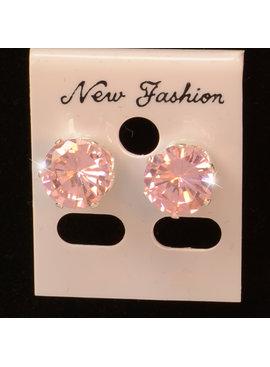 Roze sparkle  knopjes - Strass