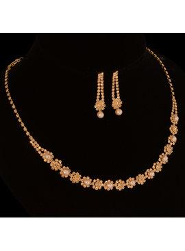 Bruiloft sieraden set met parels  - Goud