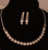 Bruiloft sieraden set met parels  - Zilver