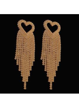 bruid oorbellen Gouden hart