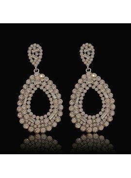 Strass oorbellen Hazel -  Met verschillende kristallen - Zilver