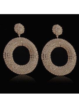 Luxe ronde zilveren  oorbellen