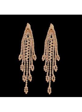 Gouden oorbellen | bruid | gala