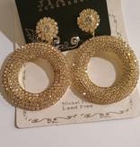 Luxe ronde Gouden  oorbellen