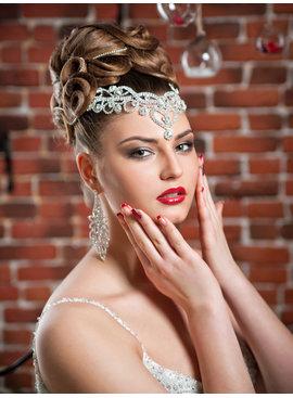 Fashion Jewelry Bruids oorbel - Zilver - Bloem motief