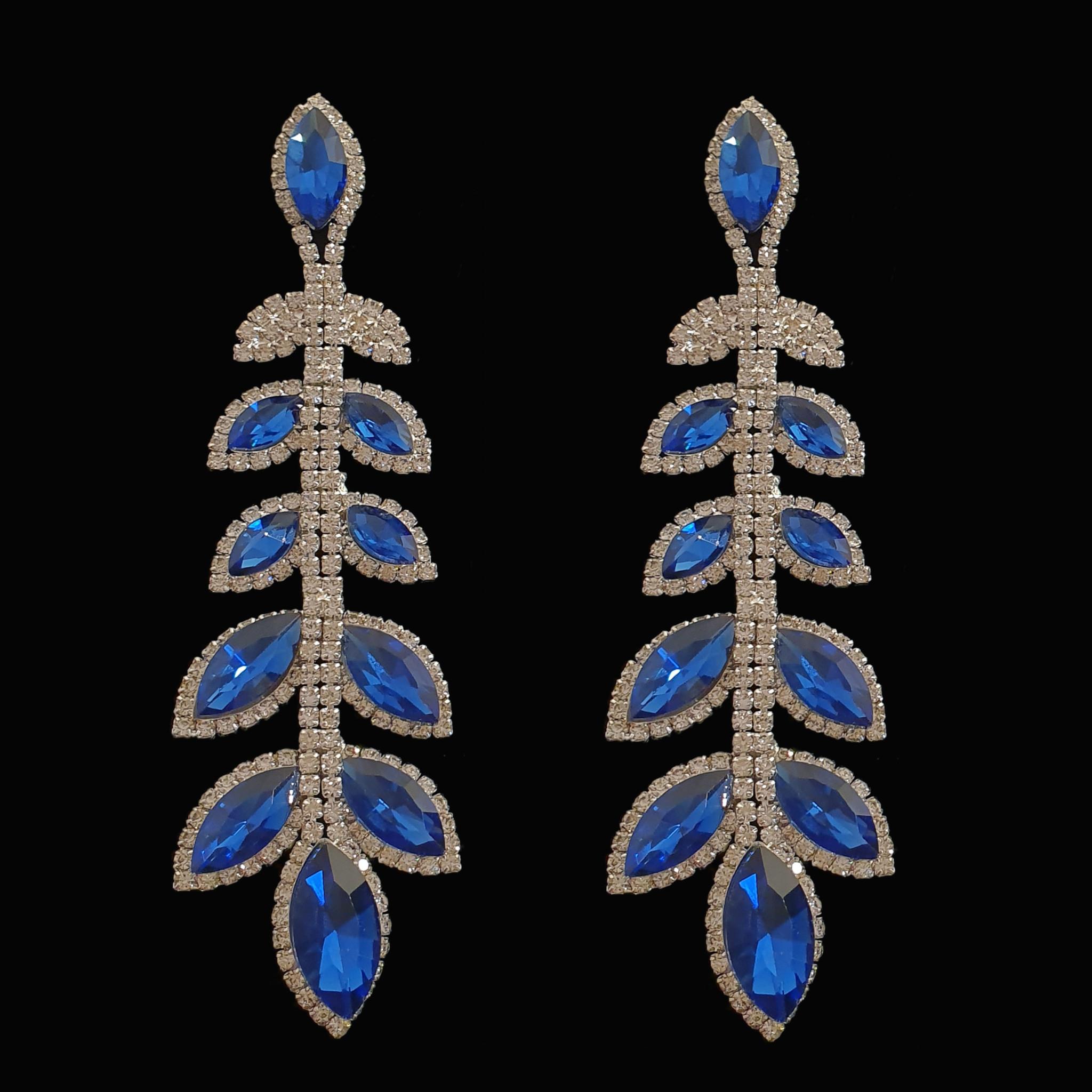 blauwe oorbellen - Shayla