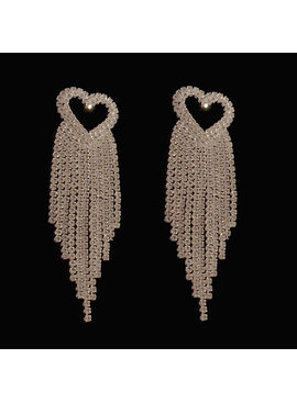 bruids oorbellen - Zilver - hart