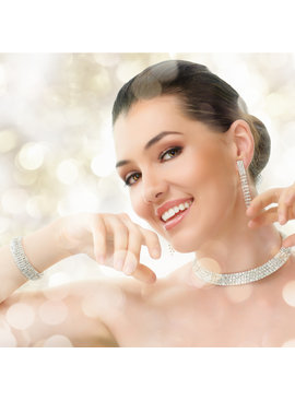 Fashion Jewelry Strass Choker - Zilver