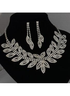 Bladvormige Bruidscollier - Zilver