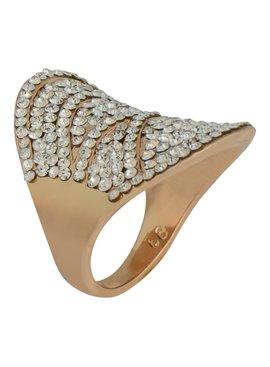 Ring - goudkleurig  met fijne strass kristallen