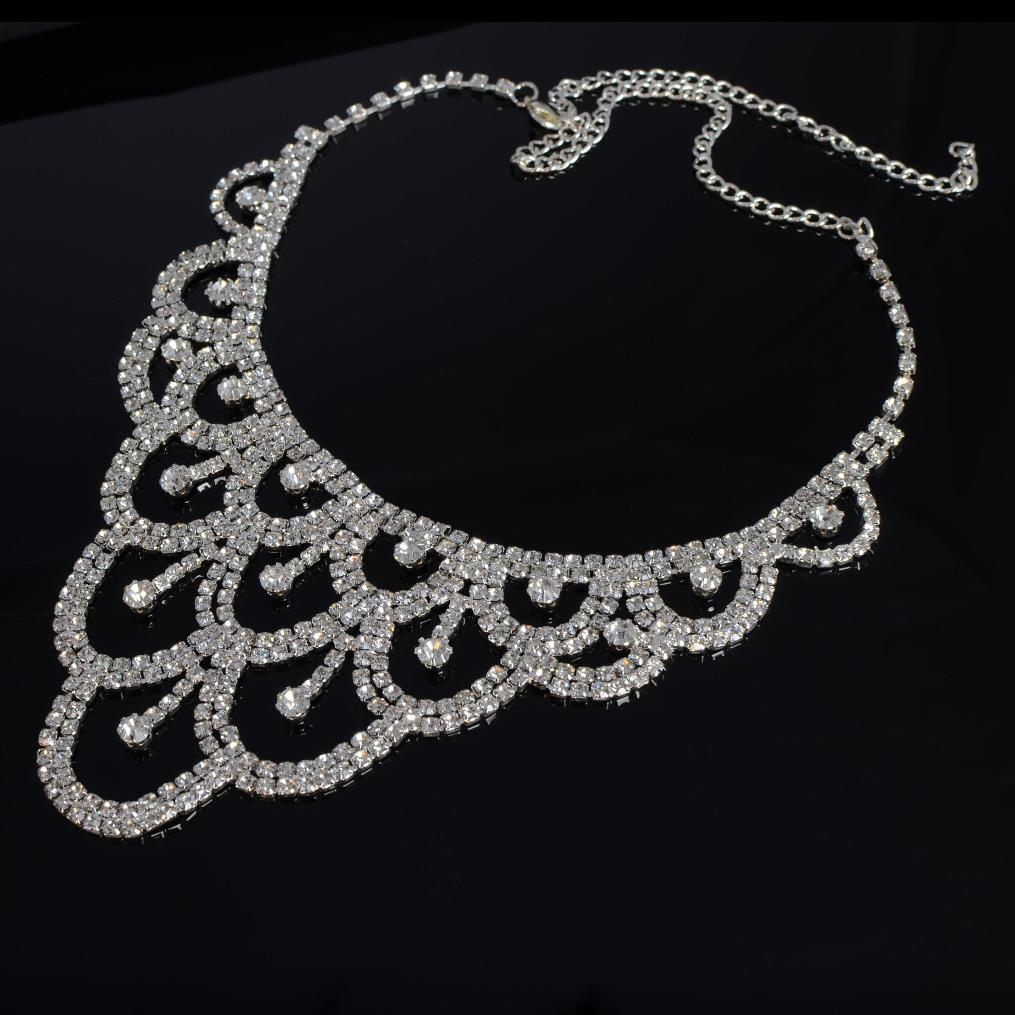 Bruidscollier  Silvi - Zilver
