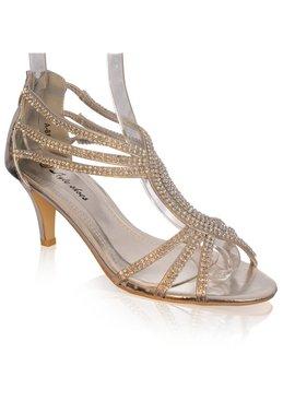 Sandalette met strass-ZILVER