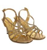 Gouden strass sandaletten