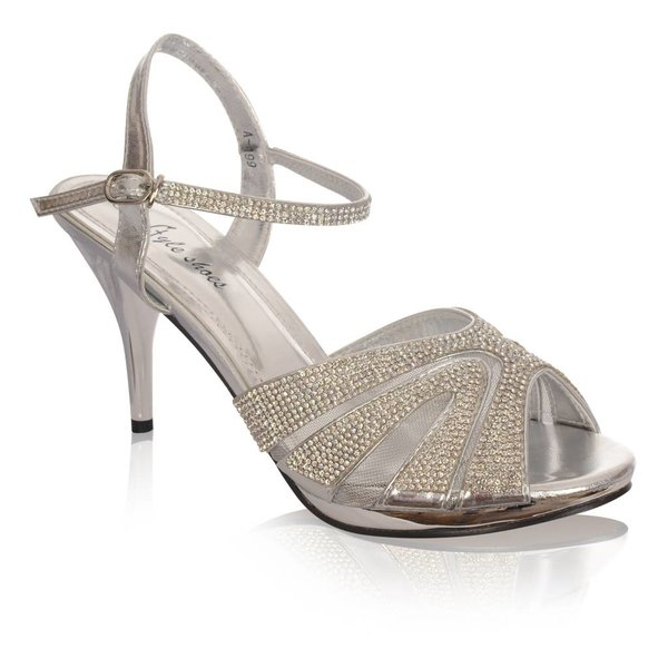 Sandalen met plateauzool -Zilver
