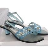 Avond sandaletten- Turquoise