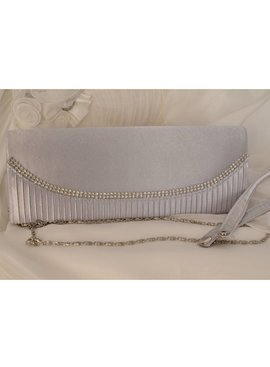Avond- en bruidstasje - zilver/grijs