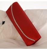 Rood satijn Avond- en bruidstasje