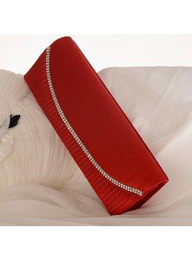 Bruidstasje rood - satijn - clutch