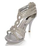 jumax G70017 Glamour sandaletten Glitzy - Zilver