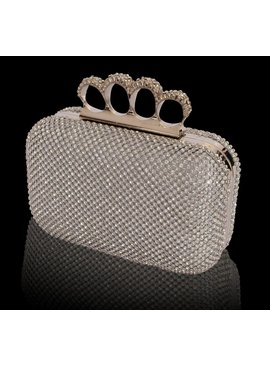 Box clutch met strass