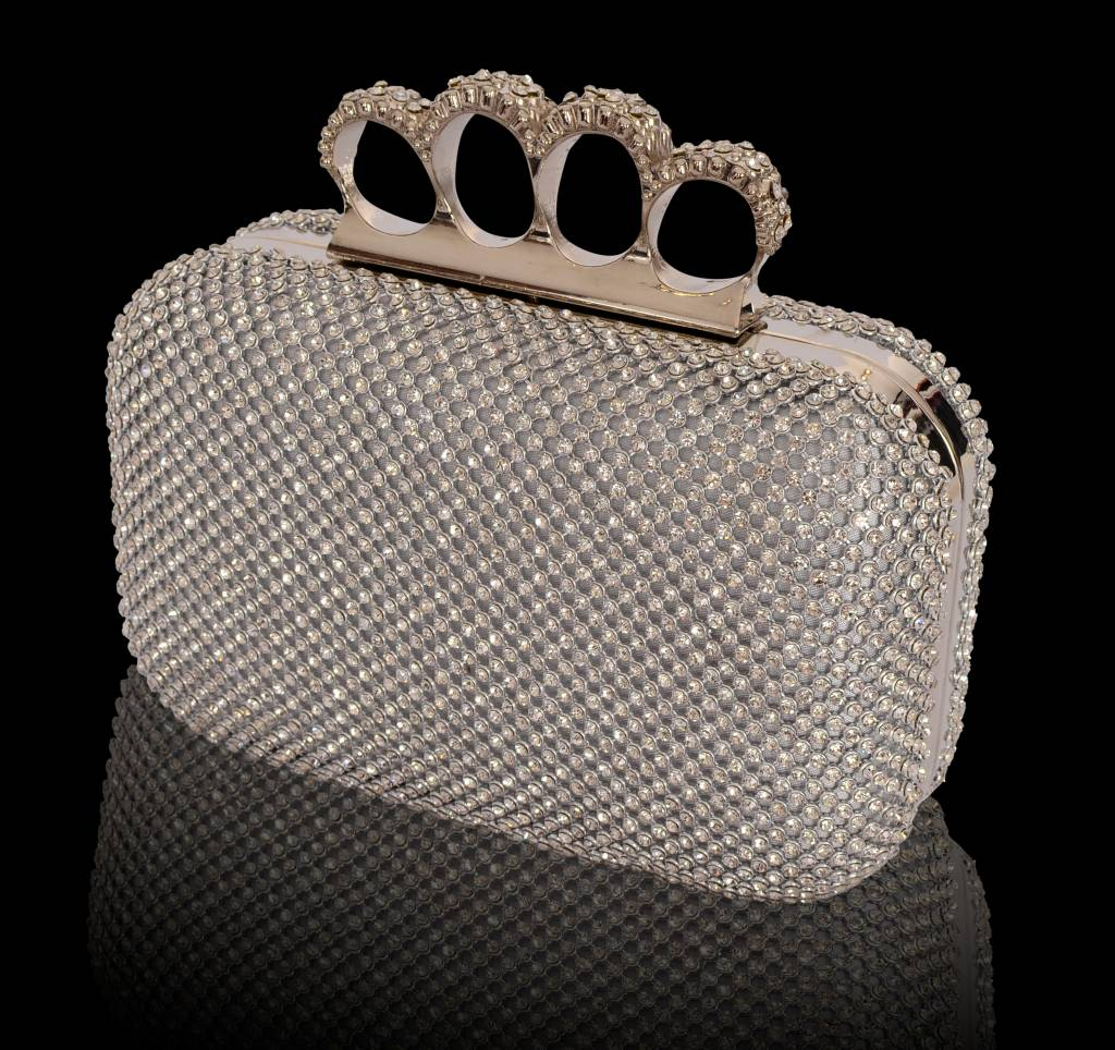 Box clutch met strass