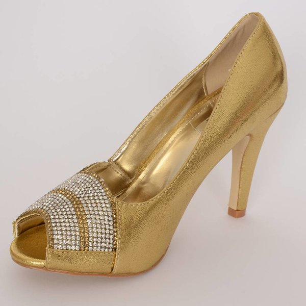 Peep-toe pumps - goud