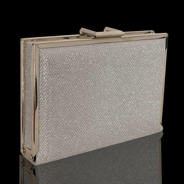 Box clutch - zilver