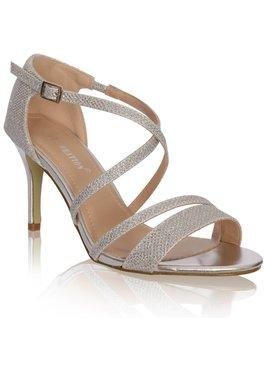 sandalen met kruisbandjes- ZILVER
