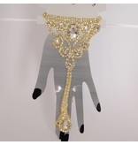 Handsieraad Strass ring + armband - Goud