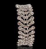 armband strass - Zilver